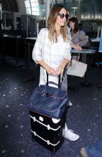JESSICA ALBA at Los Angeles International Airport 08/26/2016