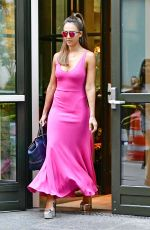 JESSICA ALBA Leaves Her Hotel in New York 08/25/2016
