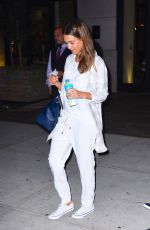 JESSICA ALBA Leaves Her Hotel in New York 08/26/2016