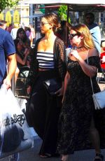 JESSICA ALBA Shopping at The Grove Mall in West Hollywood 08/06/2016