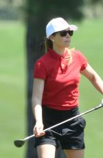 JESSICA BIEL at a Golf Course in Los Angeles 08/07/2016