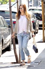 JESSICA BIEL Out and About in Beverly Hills 08/18/2016