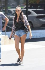 JESSICA GOMES in Denim Shorts Out in Los Angeles 0/817/2016