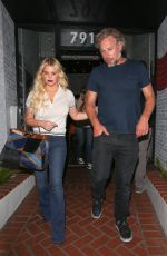 JESSICA SIMPSON Leaves a Mexican Restaurant in West Hollywood 08/16/2016