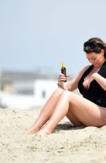 JESSICA WRIGHT in Swimsuit at a Beach in Malibu 08/14/2016