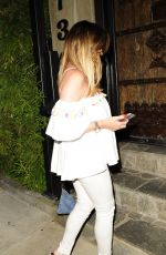 JESSICA WRIGHT Out for Dinner in Los Angeles 08/14/2016
