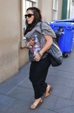 JESSIE WALLACE Arrives at a Theatre in Newcastle 08/05/2016