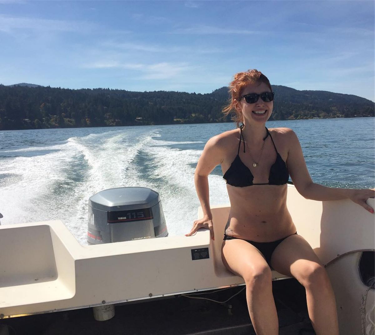 JEWEL STAITE in Bikini at a Boat 08/27/2016 Instagram Picture