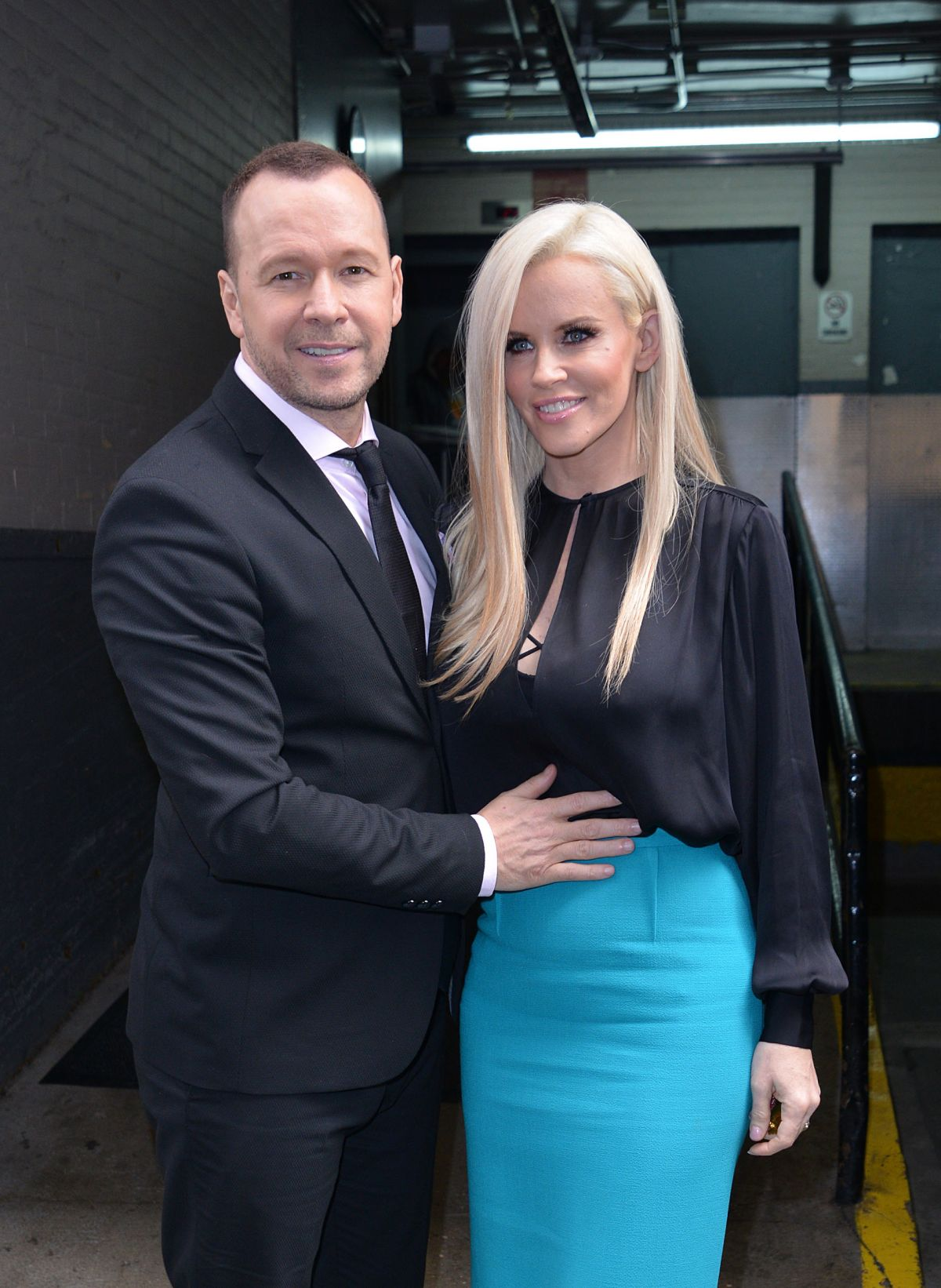 JENNY MCCARTHY and Donnie Wahlberg at AOL Studios in New York 08/16/2016