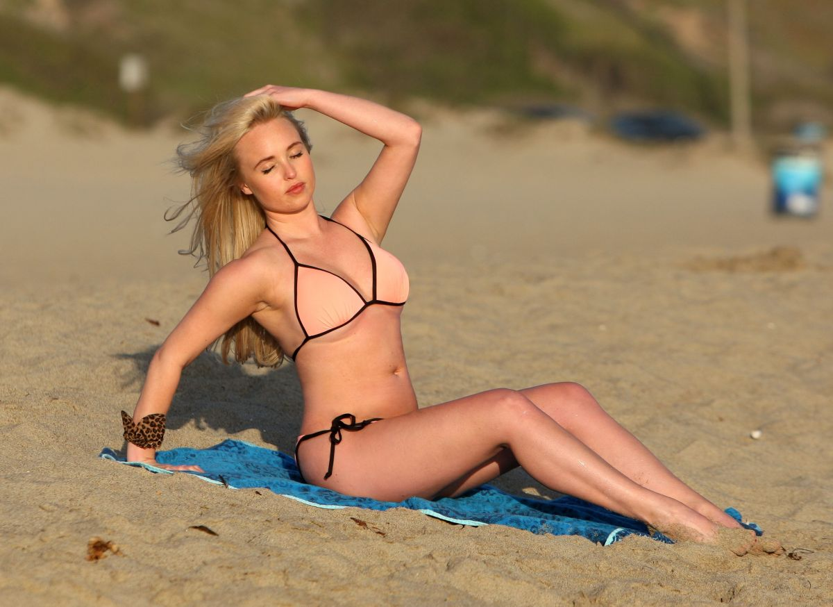JORGIE PORTER in Bikini on the Beach in Malibu 08/28/2016