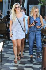 JULIENNE HOUGH Leaves Zinque Cafe in Beverly Hills 08/10/2016