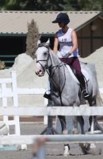 KALEY CUOCO Riding Her Horse in Burbank 08/12/2016