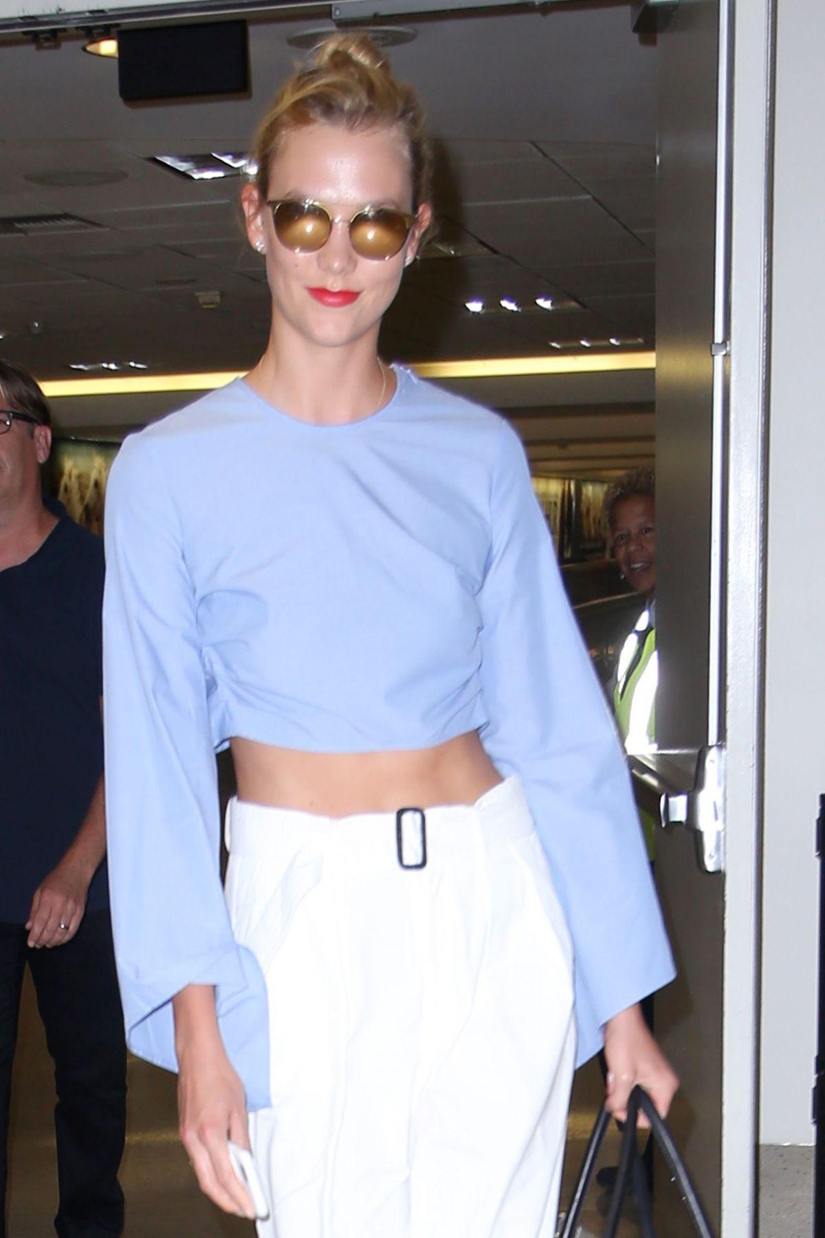 KARLIE KLOSS at Los Angeles International Airport 08/16/2016