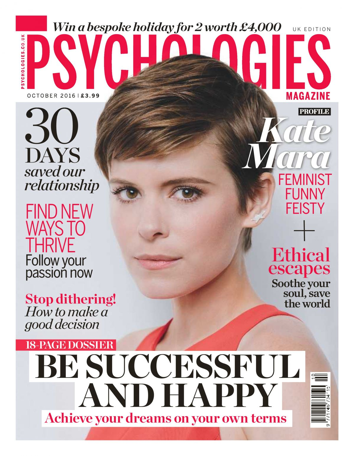 KATE MARA in Psychologies Magazine, October 2016