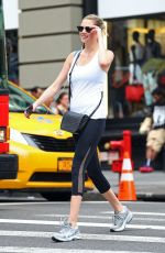 KATE UPTON in Leggings Out in New York 08/01/2016