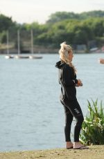 KATE WRIGHT and DANIELLE ARMSTRONG Workout at a Park in Essex 08/11/2016