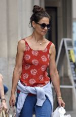 KATIE HOLMES Out and About in New York 08/18/2016