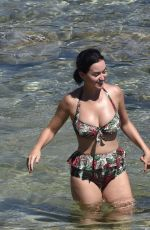 KATY PERRY in Bikini and Orlando Bloom at a Beach in Italy 08/04/2016