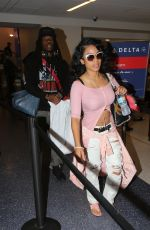 KAYSHIA COLE at LAX Airport in Los Angeles 08/05/2016