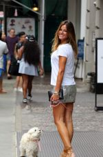 KELLY BENSIMON Out with Her Dog in New York 08/02/2016