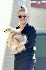 KELLY OSBOURNE Out with Her Dog in New York 08/15/2016