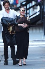 KELLY OSBOURNE Out with Her Dog in New York 08/18/2016