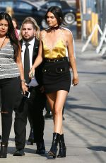 KENDALL JENNER Arrives at Jimmy Kimmel LIve in Hollywood 08/24/2016