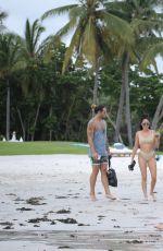 KIM KARDASHIAN and JASMINE SANDERS at a Beach in Mexico 08/18/2016
