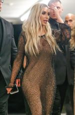 KIM KARDASHIAN at Famous by Kanye West Exhibit in Los Angeles 08/26/2016