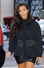 KIM KARDASHIAN Out and About in New York 08/29/2016