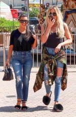 KOURTNEY and KHLOE KARDASHIAN Out Shopping in Encino 08/23/2016