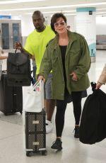 KRIS JENNER at Airport in Miami 08/12/2016