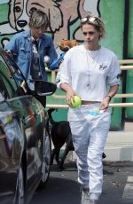 KRISTEN STEWART and ALICIA CARGILE Leaves a Pet Store in Los Feliz 08/27/2016