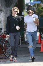 KRISTEN STEWART and ALICIA CARGILE Out for Coffee in Los Feliz 08/20/2016