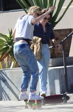 KRISTEN STEWART in Ripped Jeans Out in West Hollywood 08/18/2016