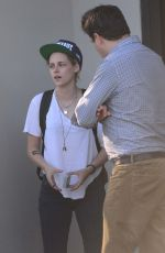 KRISTEN STEWART Leaves Scott Free Production Company in West Hollywood 08/15/2016