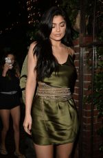 KYLIE JENNER at a Restaurant in Beverly Hills 08/01/2016