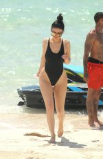 KYLIE JENNER in Swimsuit at a Beach in Turks and Caicos 08/15/2016