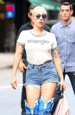 LADY GAGA Out and About in New York 08/16/2016