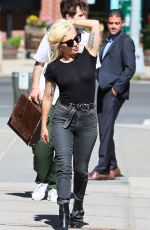 LADY GAGA Out and About in New York 08/17/2016