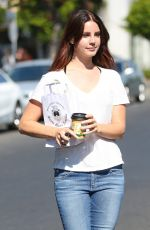 LANA DEL REY Out and About in Hollywood 08/29/2016