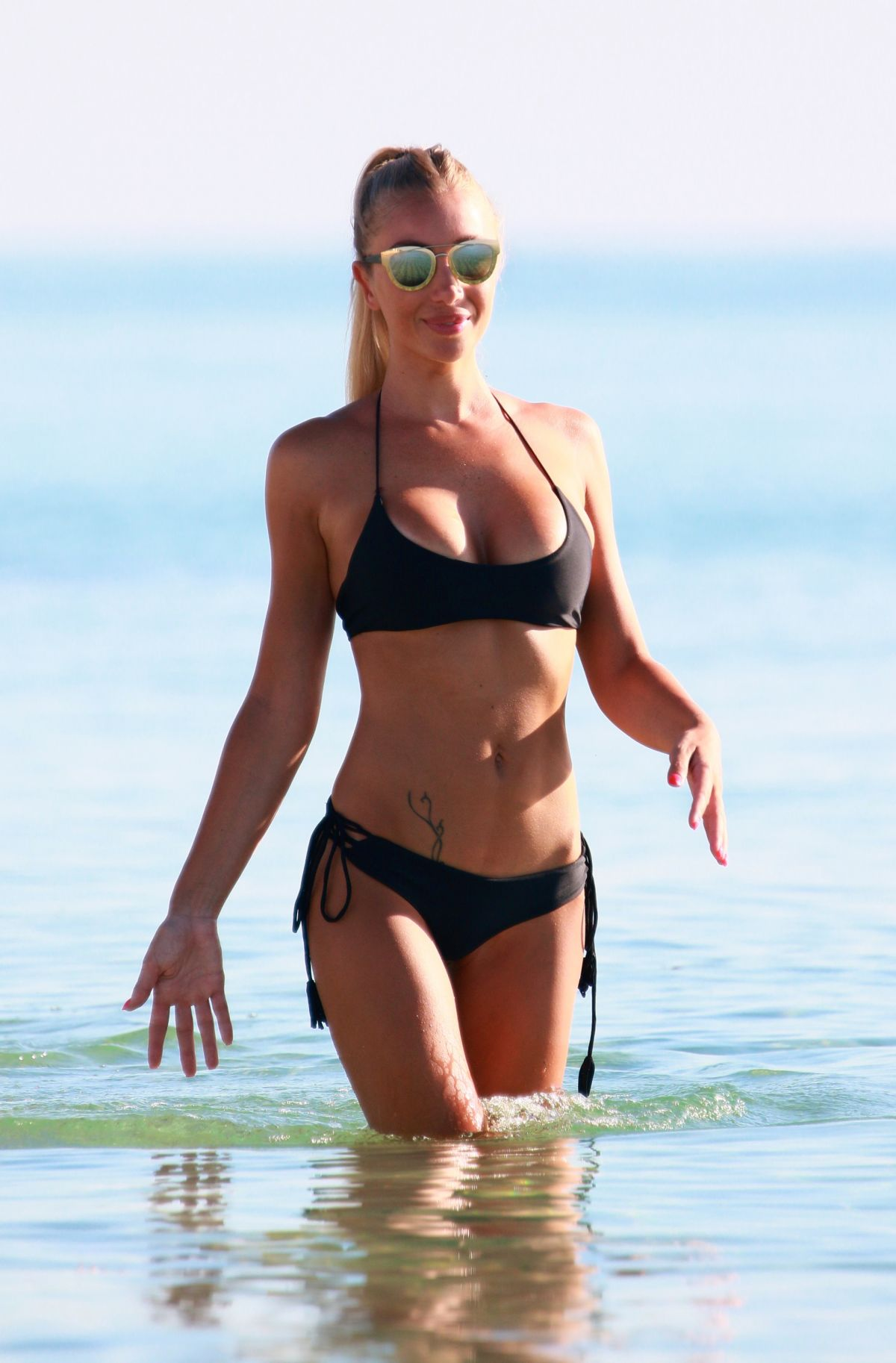 LAURA CREMASCHI in Bikini at a Beach in Miami 08/21/2016