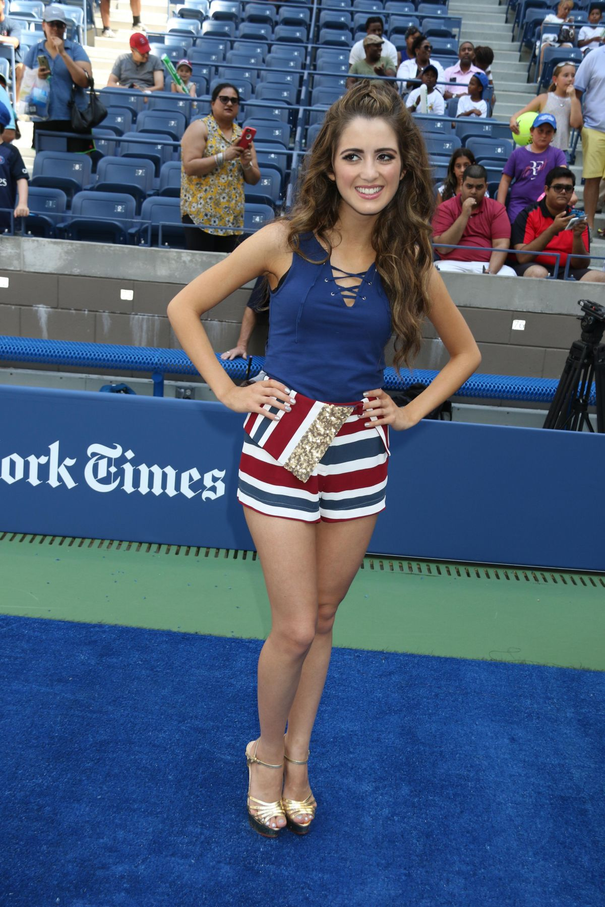 LAURA MARANO at Arthur Ashe Kid s Day in New York 08 27 2016