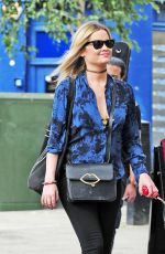 LAURA WHITMORE Out with Her Dog in London 08/13/2016