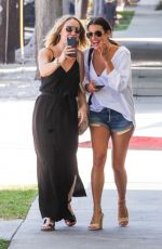 LEA MICHELE and BECCA TOBIN Out Shopping in Beverly Hills 08/12/2016