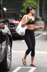 LEA MICHELE in Tights Leaves a Gym in Los Angekes 08/07/2016