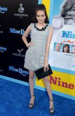 LILIMAR HERNANDEZ at 'Nine Lives' Premiere in Hollywood 08/01/2016