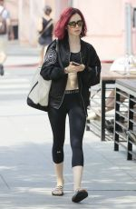 LILY COLLINS Heading to a Gym in West Hollywood 08/09/2016