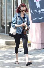 LILY COLLINS Leaves a Gym in West Hollywood 08/18/2016