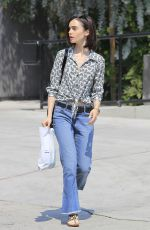 LILY COLLINS Out and About in Beverly Hills 08/25/2016